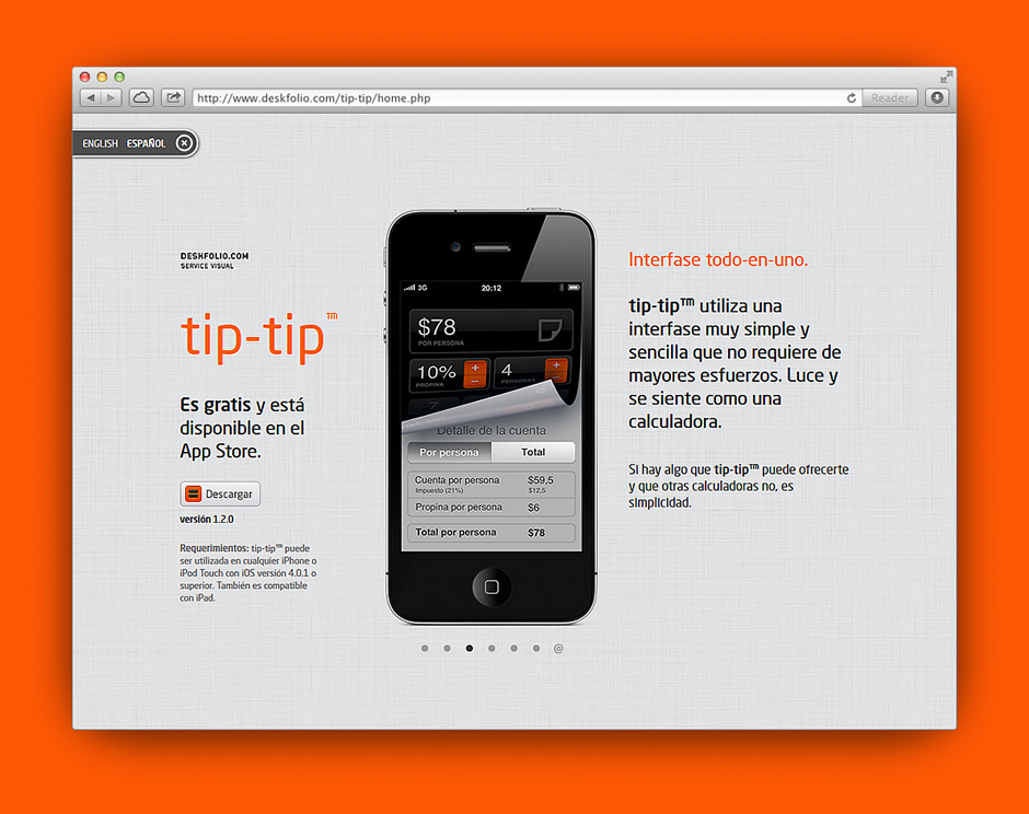 Proyecto: disponible en el app store